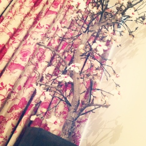 Faux Magnolia Tree on www.littlebrookroad.com. Home styling interior design inspiration.