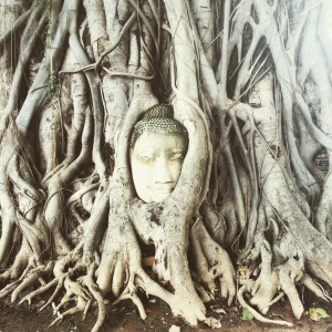Ayutthaya Thailand Southeast Asia Worlds Most Mysterious Buddha Head Between Ruins and Japanese Tuk Tuks Find out What to See and Where to Eat www.littlebrookroad.com #HeHoLetsGo 5